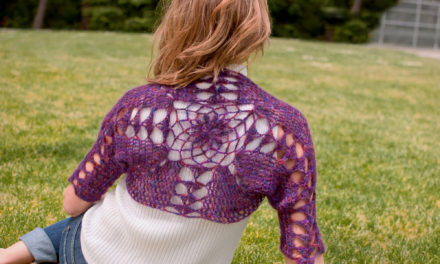 Gorgeous Chrysanthemum Shrug – They Say It Can Be Crocheted in a Day!