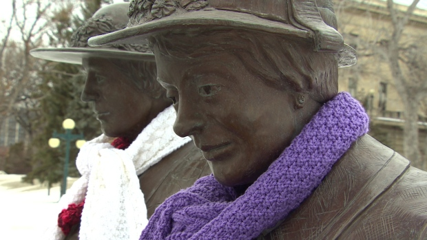 Honouring The Famous Five – A Yarnbomb To Celebrate Women's Right to Personhood