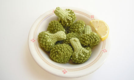Finn's Pick: Knitted Steamed Broccoli Florets – Pattern Available!