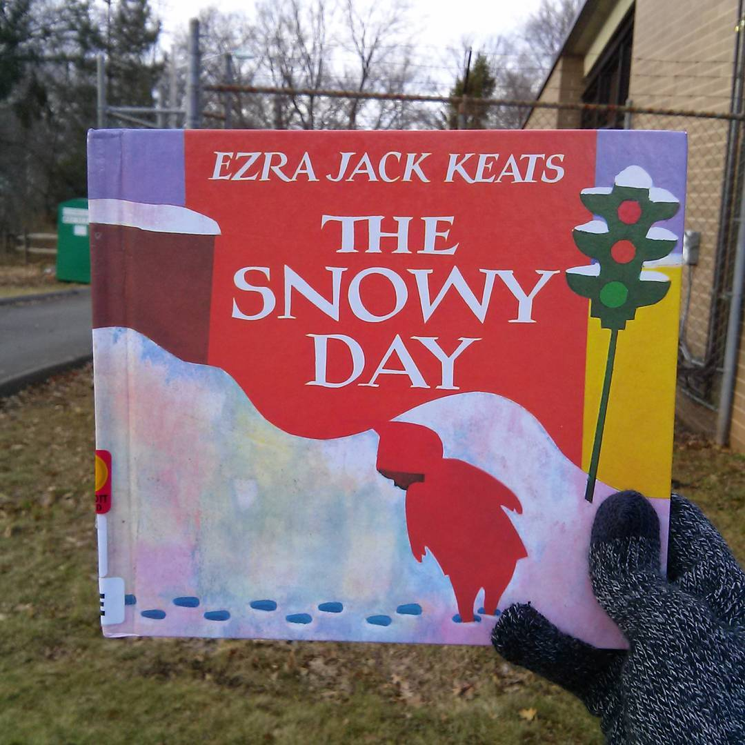 Snowy Day Yarn Bomb by Hi, Jenny Brown - a Real Treat for Ezra Jack Keats Fans!