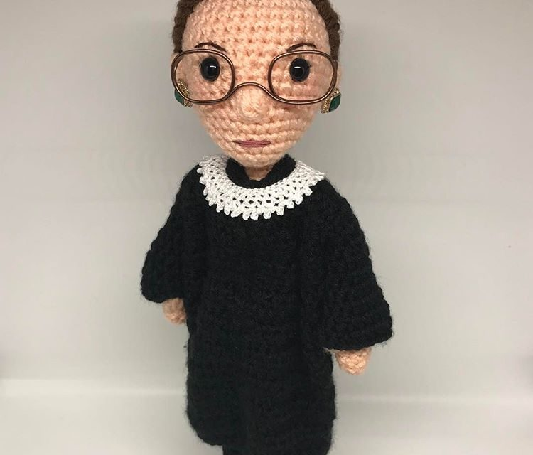 Ruth Bader Ginsburg – The Notorious RBG Amigurumi by Tobey King