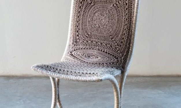 "Exquisite Chair Called ""Chakra"" Crocheted by Italian Artist, Loredana Bonora"