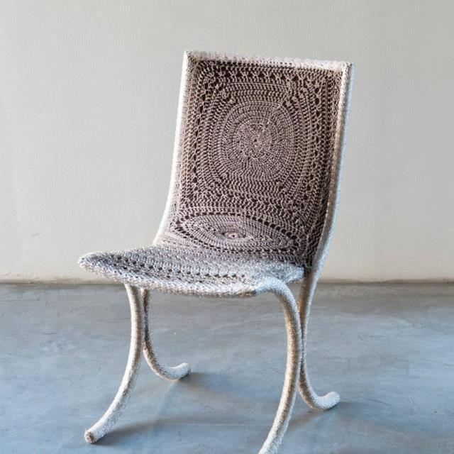 "Exquisite Chair Called ""Chakra"" Crocheted by Italian Artist, Loredana Bonora"
