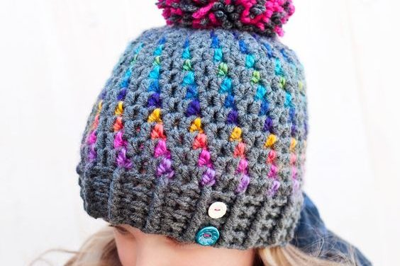 Stunning Northern Lights Pom Pom Hat – Crochet Pattern from Northern Knots Canada