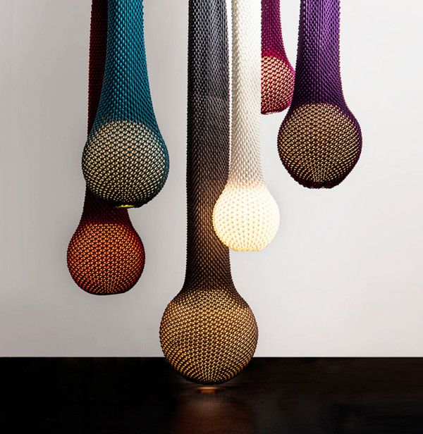 Gorgeous Knitted Light Fixtures Designed by Ariel Zuckerman
