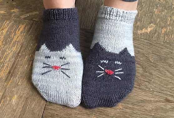 Ready for the Tao of Wool? Knit Yourself a Pair of YinYang Kitty Ankle Socks!