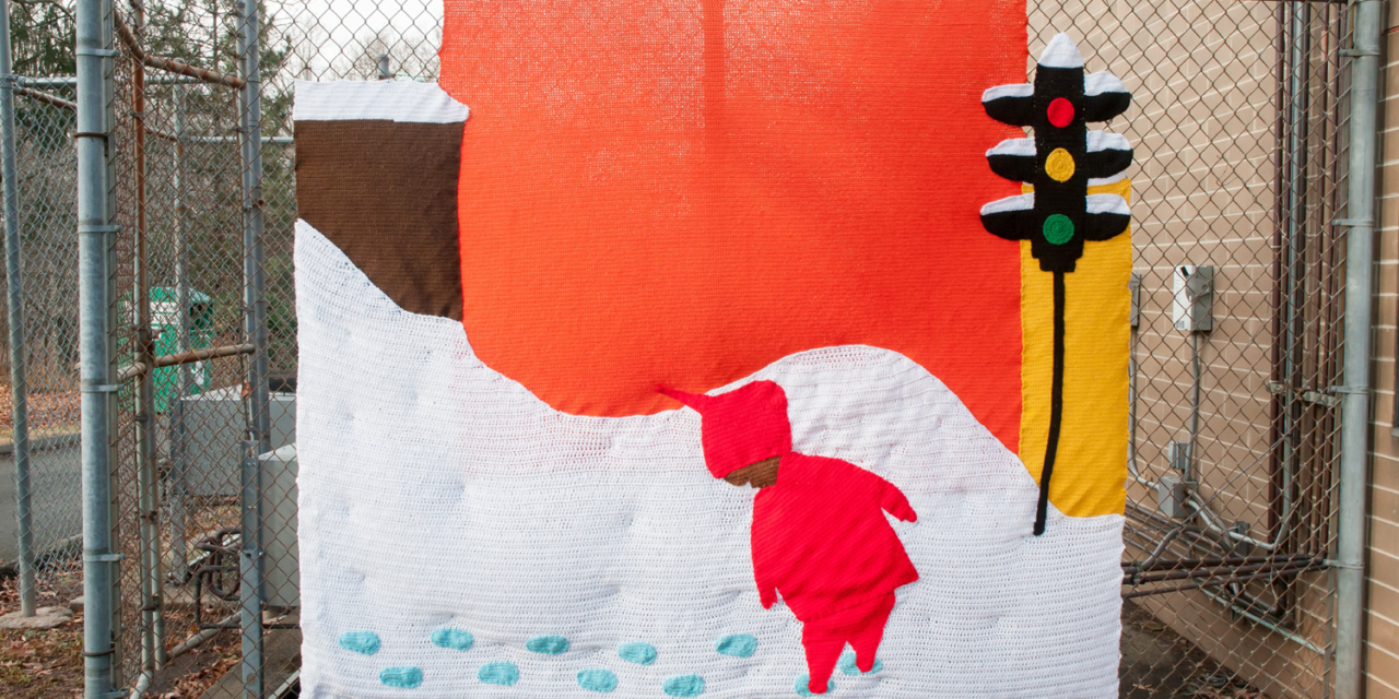 Snowy Day Yarn Bomb by Hi, Jenny Brown – a Real Treat for Ezra Jack Keats Fans!