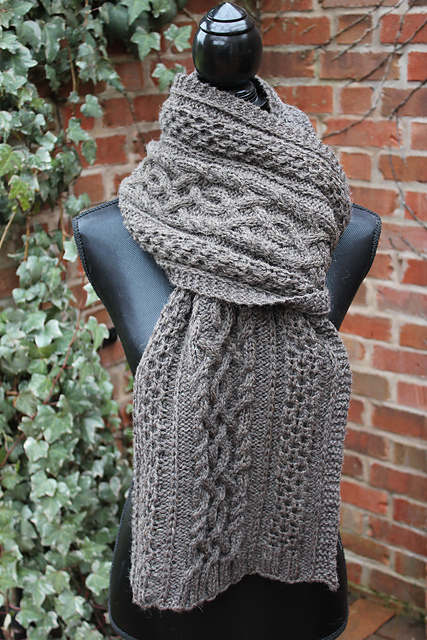 Make This Stunning Cable-Knit Scarf, Pattern By Kalurah Hudson