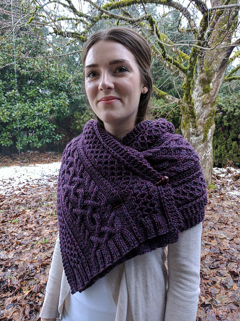 Stunning Cable-Knit Scarf by Kalurah Hudson