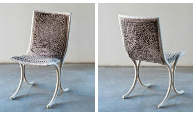 Exquisite Chair Called 'Chakra' Crocheted by Italian Artist, Loredana Bonora