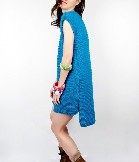 "Easy To Make and Fun to Wear, Get This ""Yoshimi Knit Dress"" On Your Needles Now"