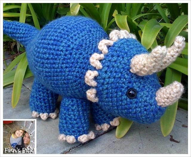 Finn's Pick: Crochet Triceratops Dinosaur by Joanne Succari