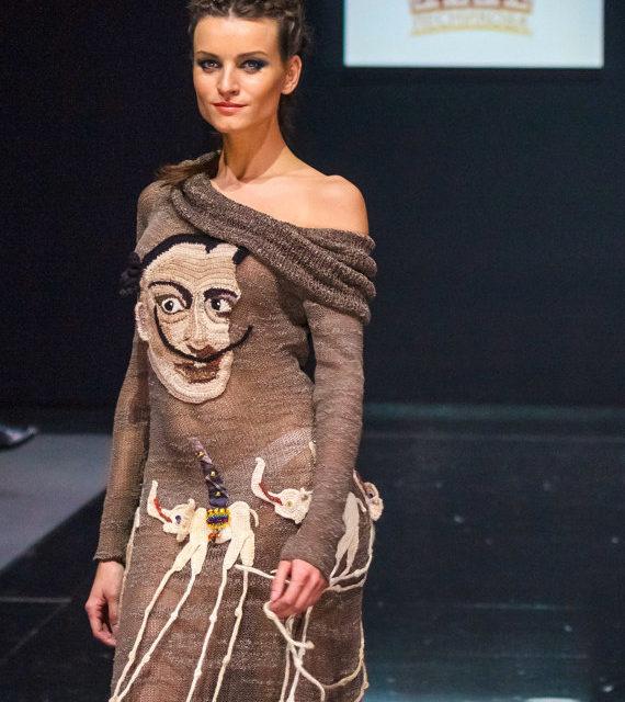 Anna Lesnikova's Knitted Salvador Dali Dress