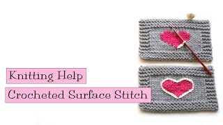 How To Use a Crocheted Surface Stitch With Your Knitting – Genius Idea From VeryPink Knits
