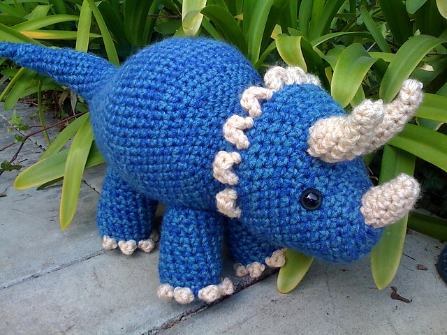 Finn's Pick: Crochet a Triceratops Dinosaur Amigurumi Designed by Joanne Succari