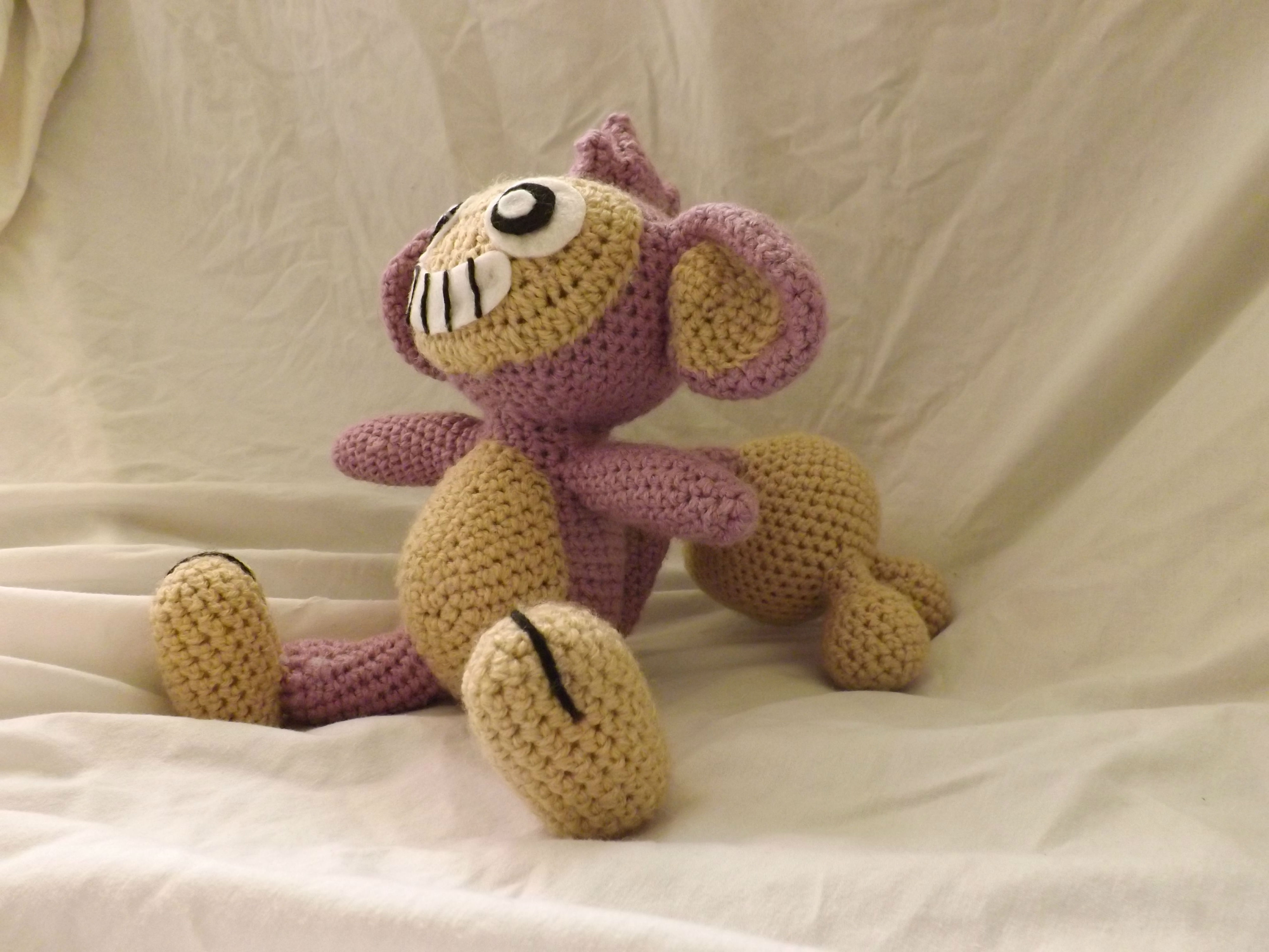 Crochet Aipom By PokeCrochet for Pokémon Day!