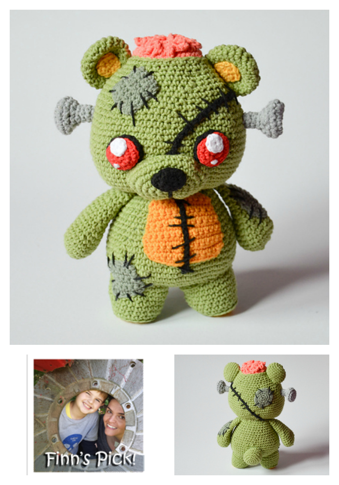 Finn's Pick: Frankie the Zombie - Crochet Amigurumi Pattern Available!