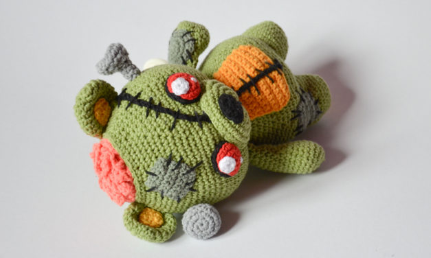 Finn's Pick: Frankie the Zombie – Crochet Amigurumi Pattern Available!