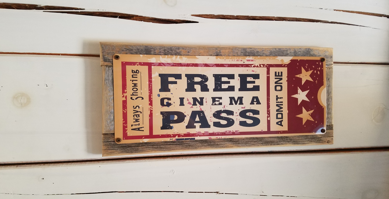 Review: Unique Free Cinema Pass Metal Sign From Homebody Accents