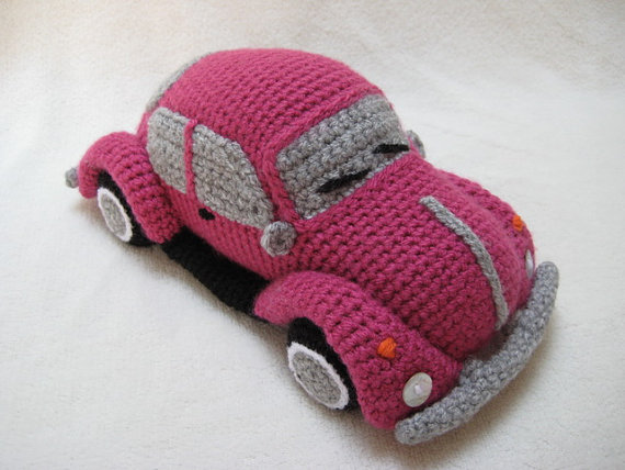 Crochet a VW Beetle Volkswagen Amigurumi - Such a Cute Bug!
