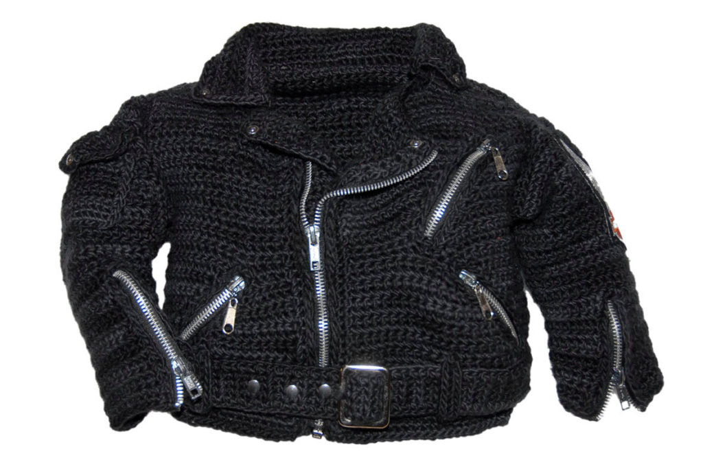 Crochet a Classic Motorcycle Jacket For Your Favorite Munchkin