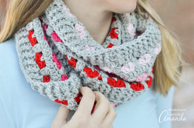 Put a Heart on It - Crochet This Cute Cowl For Yourself or Someone You Love - FREE Pattern!