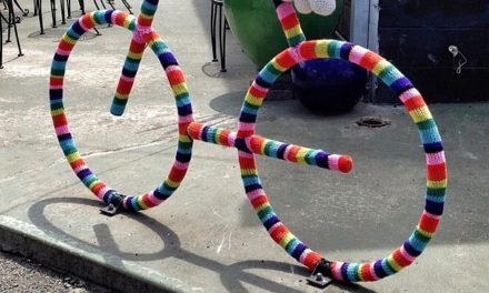 Rainbow Bicycle Yarn Bomb Spotted in Honolulu, Hawaii