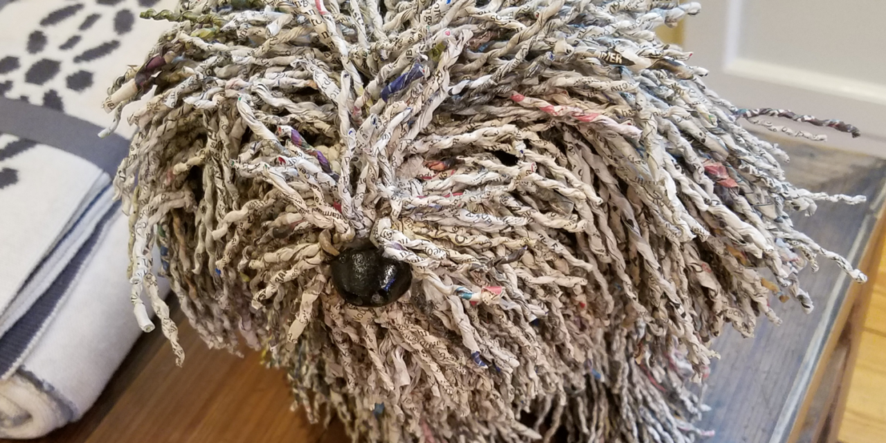 These Dogs Are Made From Recycled Newspaper Yarn!