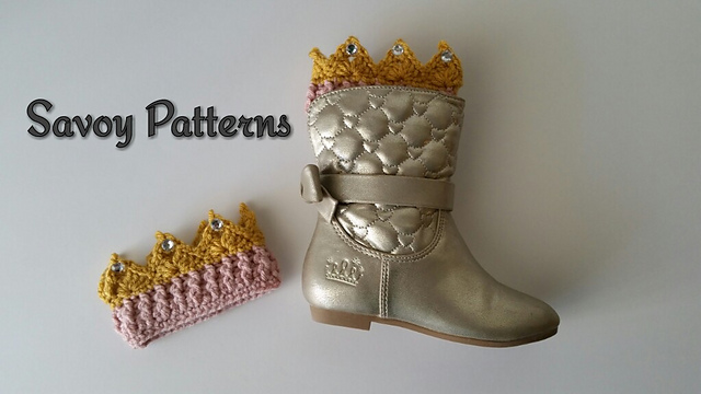 These Bejeweled Princess Ava Boot Cuffs Are Crochet Perfection!
