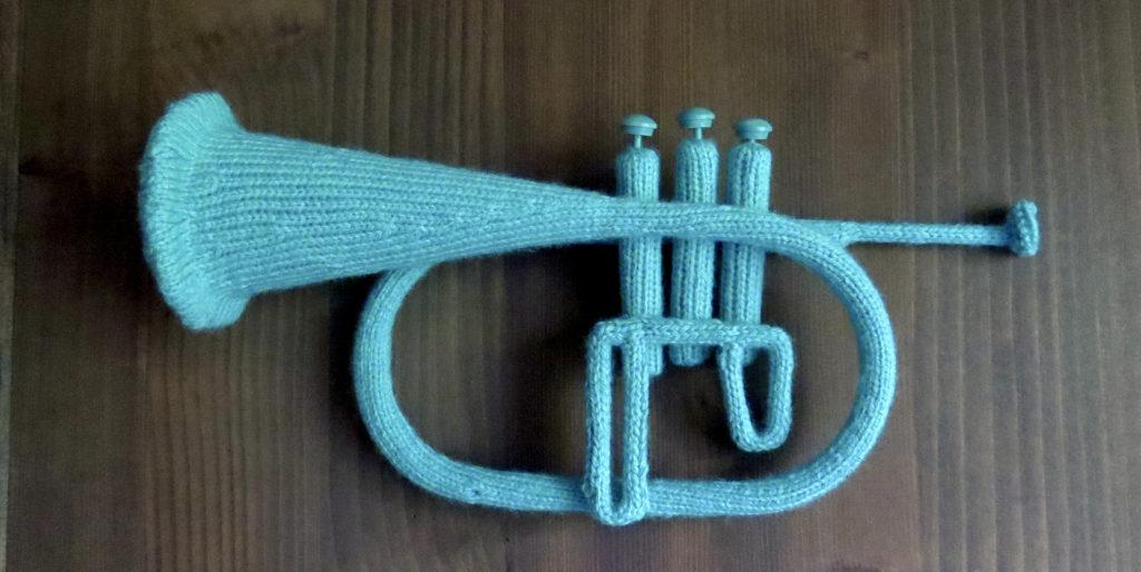 Katie Boyette Knitted Blue Flugelhorn