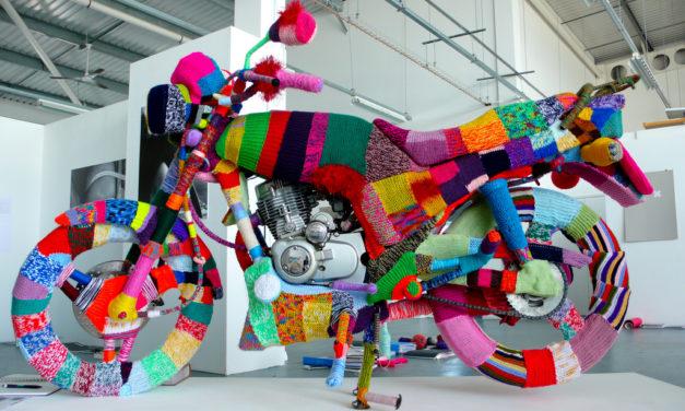 Kate Corbin's Colorfully Yarn Bombed Motorcycle