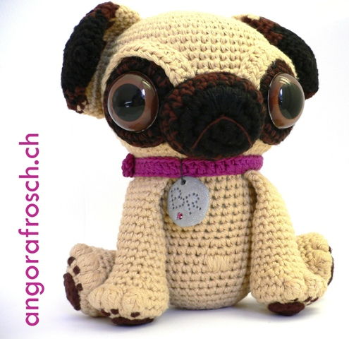 Crochet Baby Pug Amigurumi and Friends ... Love Those Ginormous Eyes  - So Cute!
