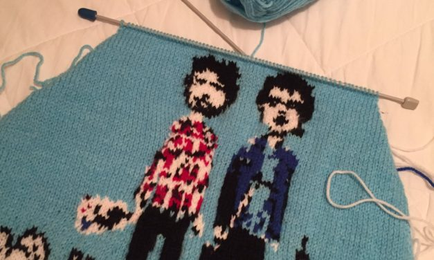 She Finished Her Fantastic Flight of the Conchords Sweater!