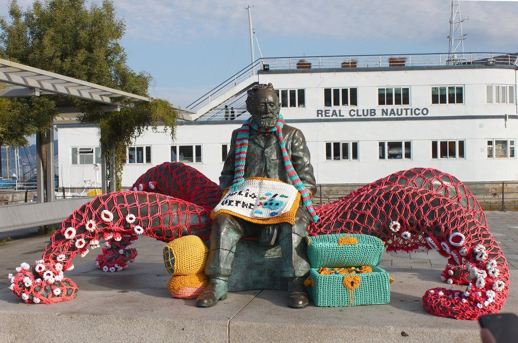 Crochet Tribute to Jules Verne Who Died 112 Years Ago Today ... Fantastic Yarn Bomb!