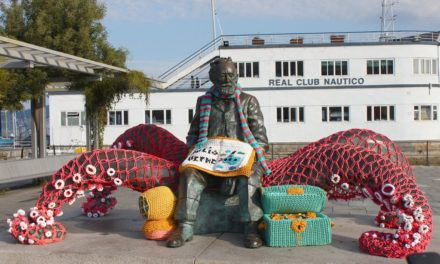 Crochet Tribute to Jules Verne Who Died 115 Years Ago Today … Fantastic Yarn Bomb!