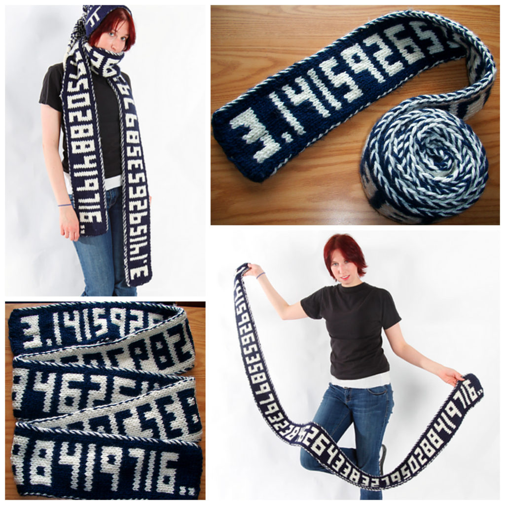 Happy Pi Day! Now Make This Double-Knit Pi Scarf, Would Ya? It Keeps Going and Going