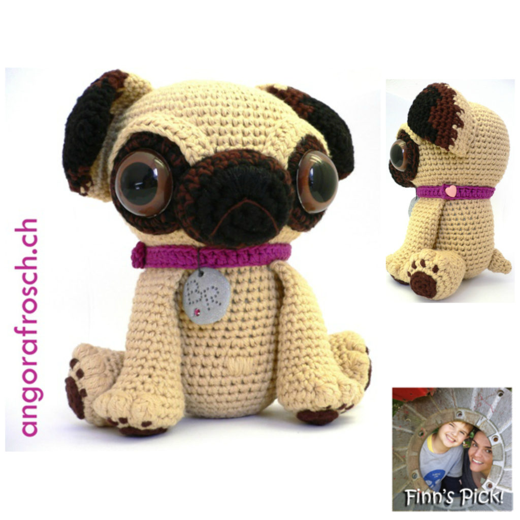 Finn's Pick: Crochet Baby Pug With Big Eyes - So Cute!