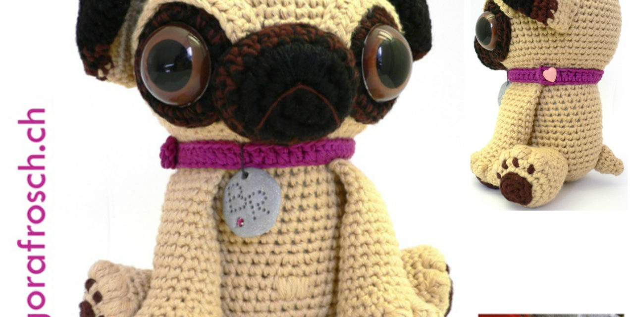 Crochet Baby Pug Amigurumi and Friends … Love Those Ginormous Eyes  – So Cute!