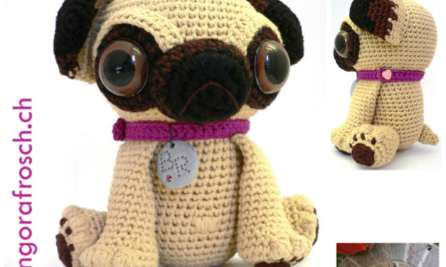 Finn's Pick: Crochet Baby Pug With Big Eyes – So Cute!