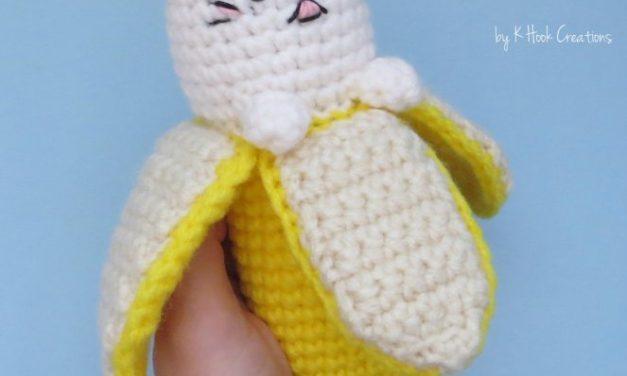 Crochet a Bananya Cat – a Campy Cartoon Banana Cat Mash-Up!