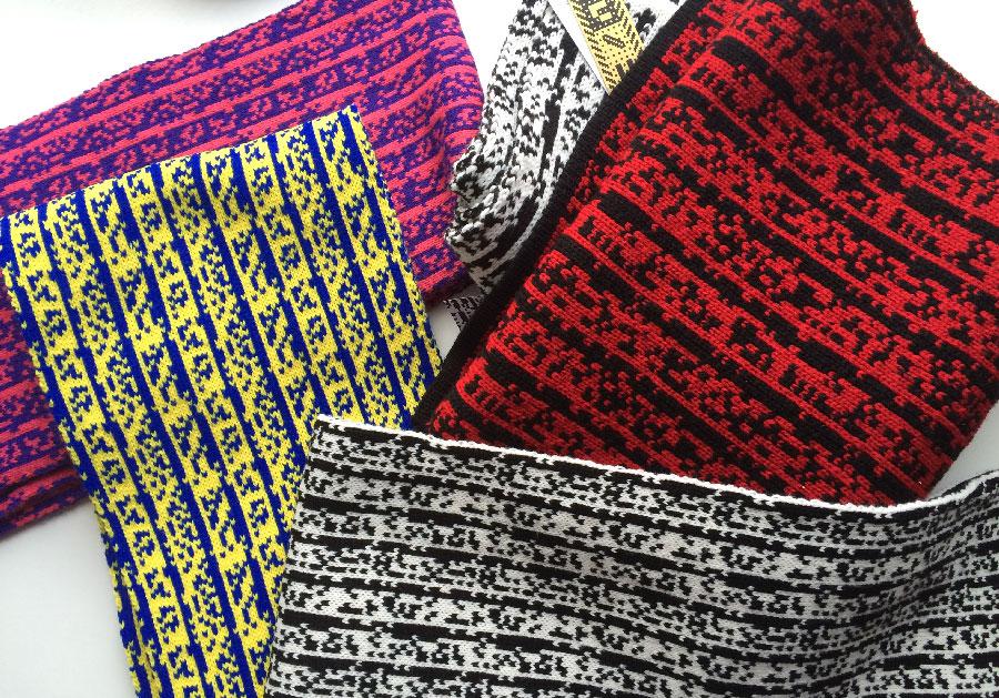 Sam Meech's Knitted Binary Scarves