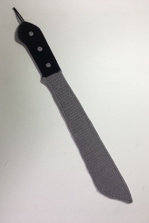 Machete, Cleaver, Chef Knife, Hatchet ... Crochet Patterns For All The Knives