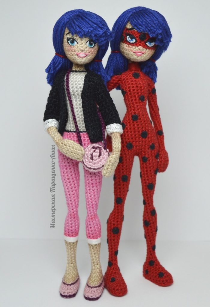 Miraculous Crochet Amigurumi of Ladybug and Cat Noir