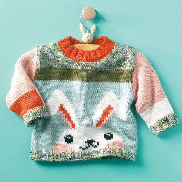 Does This Cuddly, Snuggly Knit Rabbit Sweater Come in Adult Sizes? Get the FREE Pattern!