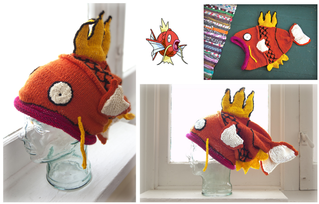 Incredible Knitted Magikarp Hat By Kim Denise - Pokémon Fans, This is a Must-See!