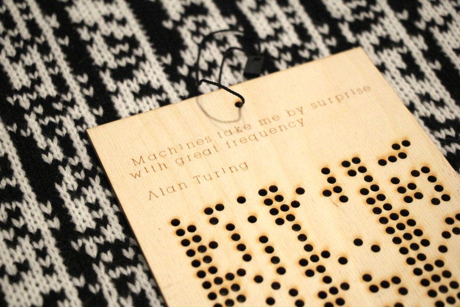 Sam Meech's Knitted Binary Scarves