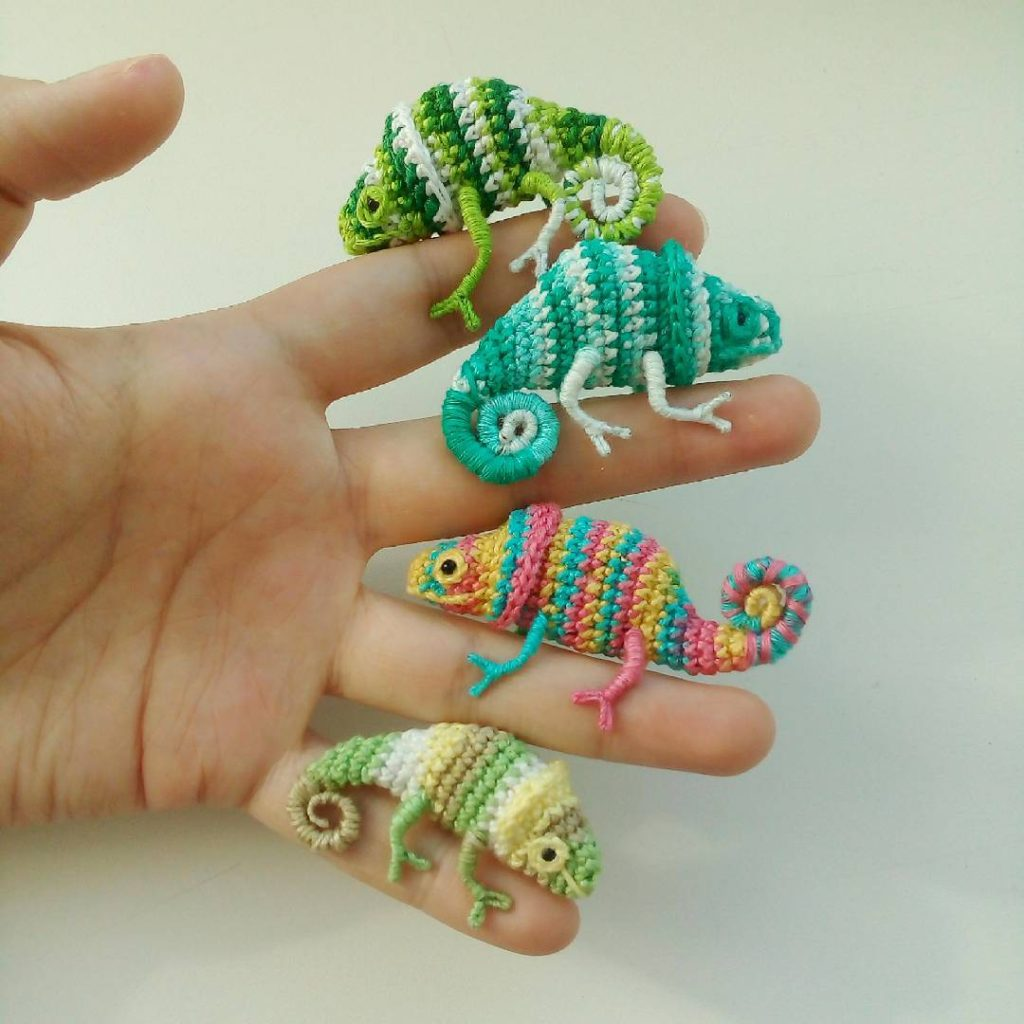 Forget Karma, These Tiny Crochet Chameleons Will Save Us All ... Now With a Pattern To Try