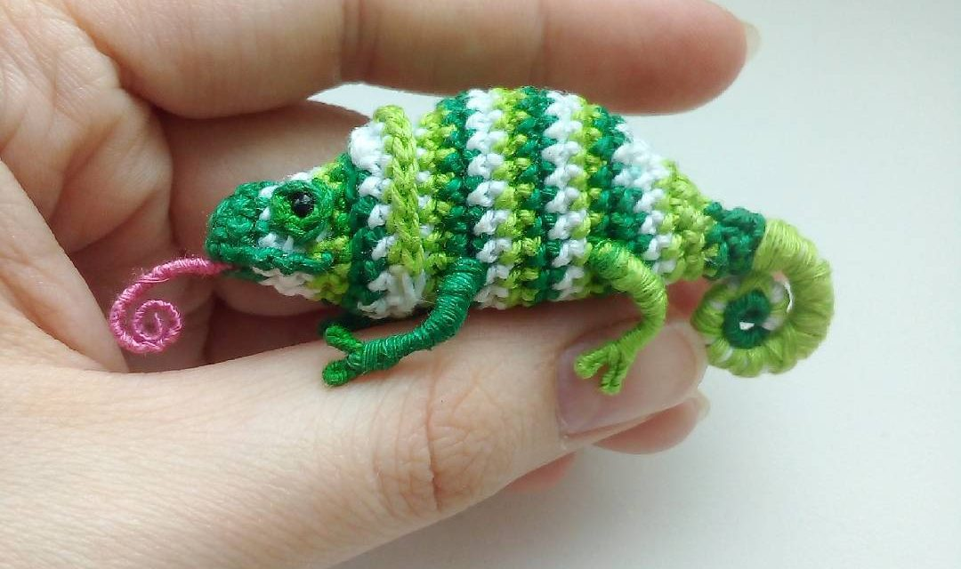 Forget Karma, These Tiny Crochet Chameleons Will Save Us All … Now With a Pattern To Try