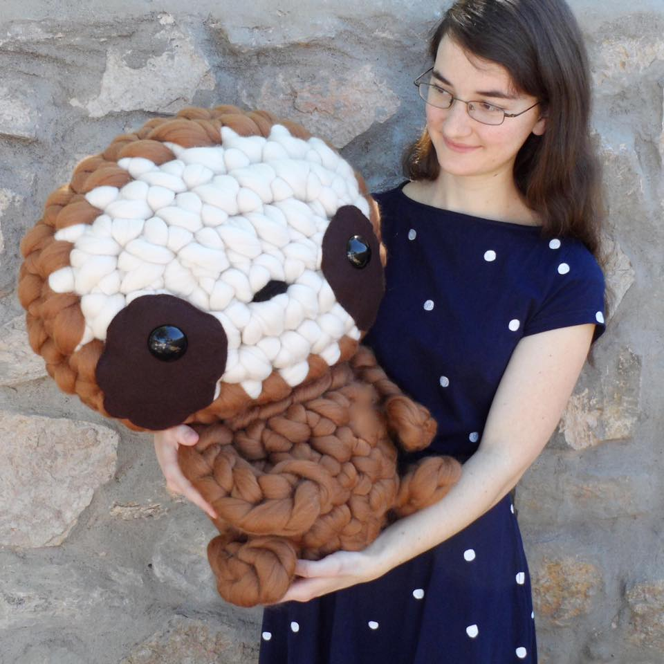 Meet Zippy The Sloth, A Five-Pound Amigurumi - He's Huge!