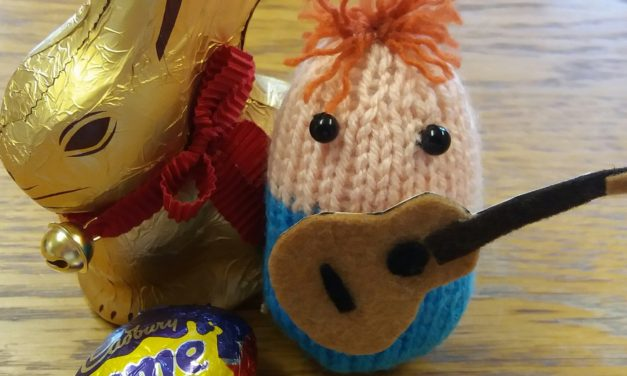"Knitted ""Egg"" Sheeran Amigurumi Made By Kwerky Knits – So Kooky!"